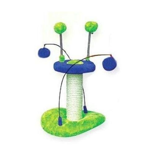 YARRO drapak dla kota Mini-UFO zielono-niebieski