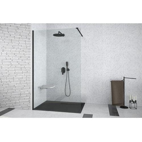 Besco Ścianka prysznicowa walk in aveo black 100 (5908239689698)