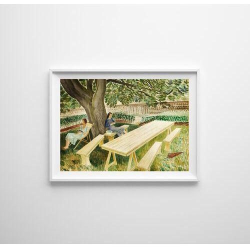Plakat w stylu retro Plakat w stylu retro Eric Ravilious Dwie kobiety w ogrodzie