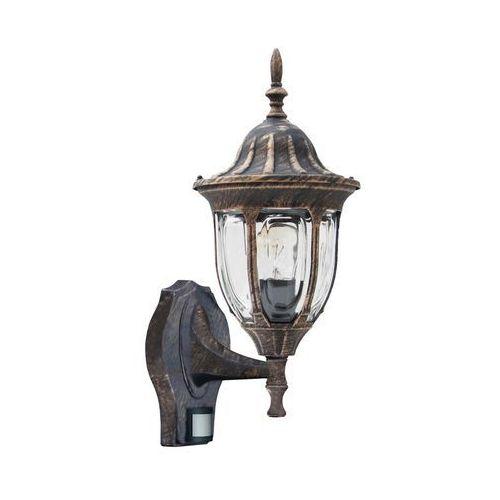 Kinkiet zewnętrzny lampa ścienna Rabalux Milano 1x60W E27 IP43 antyczne złoto 8370 (5998250383705)