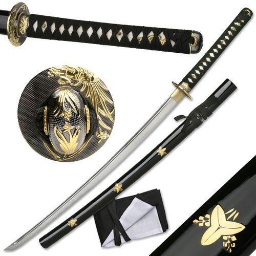 Ręcznie kuty miecz samurajski katana maru, piękna saya (maz-023f) marki Płatnerze hiszpańscy