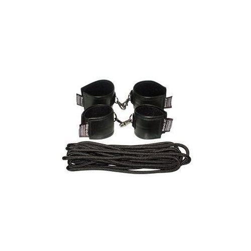 Soft-Leather-Bond-X Fessel-Set 8 (cuffs black)