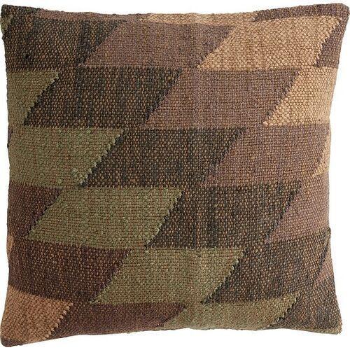 Poduszka hübsch zielono-szara kilim