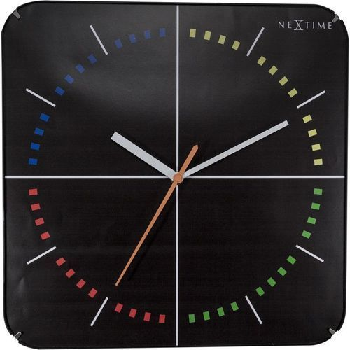 Nextime - zegar ścienny 4 seasons - czarny