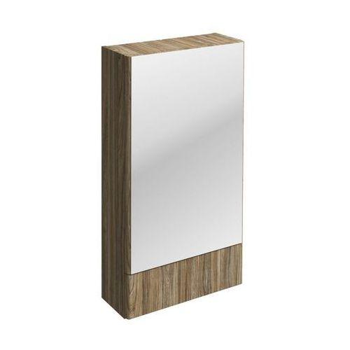 Nova Pro Koło szafka wisząca 46 4 x 85 x 17 6 cm z lustrem szary jesion - 88439000