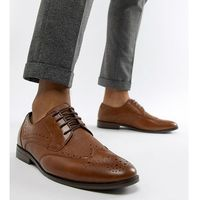 River island wide fit brogues in tan - tan