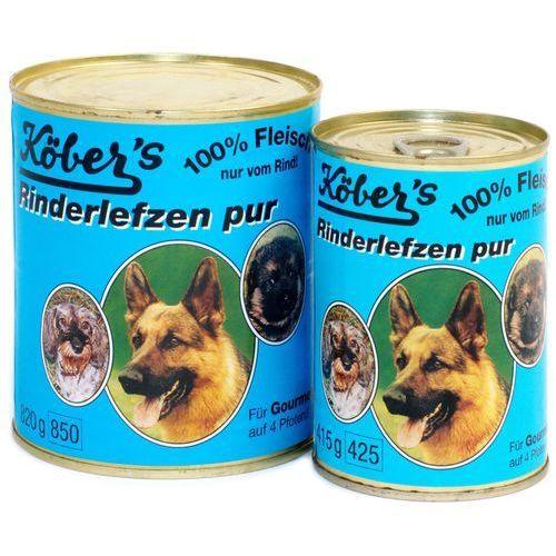 Koebers Rinderlefzen Pur wołowina 100% dla psa: waga - 400 g DOSTAWA 24h GRATIS od 99zł (4001714310221)