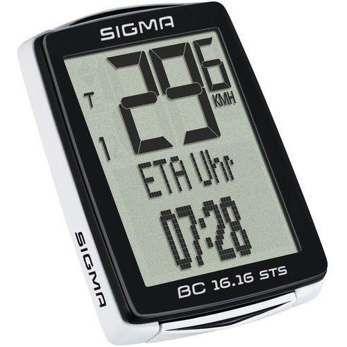 SIGMA SPORT BC 16.16 STS Licznik rowerowy kabellos czarny Liczniki rowerowe (4016224016174)