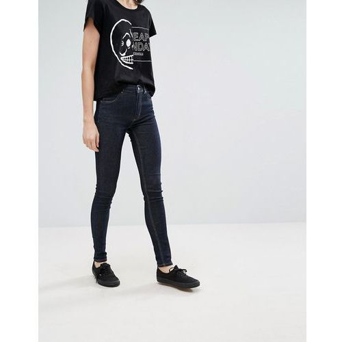 Cheap Monday Second Skin High Waisted Jeans - Blue