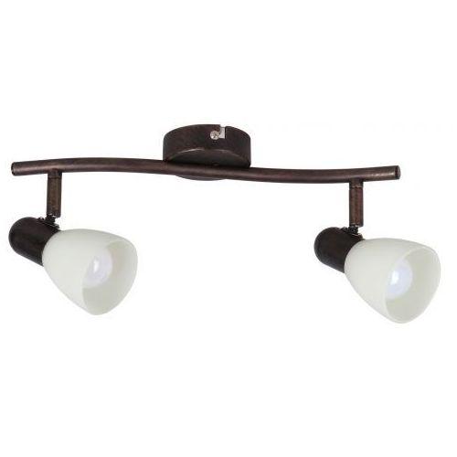Rabalux Listwa lampa sufitowa soma 2x40w e14 antyczny brąz/kremowy 6592 (5998250365923)