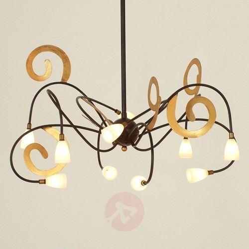 Holländer casino rigido lampa wisząca brązowy, złoty, 10-punktowe - design - obszar wewnętrzny - rigido - czas dostawy: od 2-3 tygodni