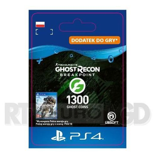 Tom Clancy's Ghost Recon: Breakpoint 1300 Ghost Coins [kod aktywacyjny] PS4 (0000006201772)