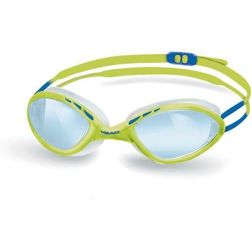 Head Tiger Race Okulary pływackie LiquidSkin żółty/niebieski 2018 Okulary do pływania