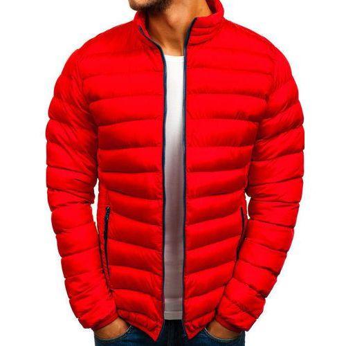Kurtka męska zimowa sportowa czerwona Denley SM50, zimowa