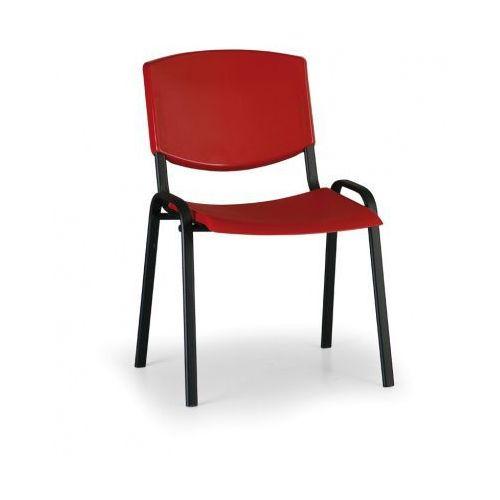 Krzesło konferencyjne Smile, czerwony - kolor konstrucji czarny
