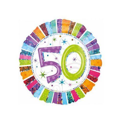 Twojestroje.pl Balon 50 urodziny kolorowy 18'' 46cm (0026635160711)