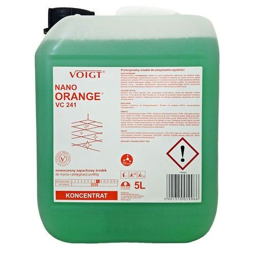Ppuh voigt sp. z o.o. Voigt nano orange vc 241 (5 litrów, 1:200) - nowoczesny zapachowy środek w koncentracie do mycia i pielęgnacji podłóg (5901370019966)