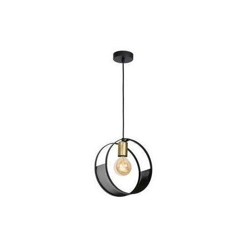 Luminex siner 696 lampa wisząca zwisk 1x60w e27 czarny złoty (5907812626969)