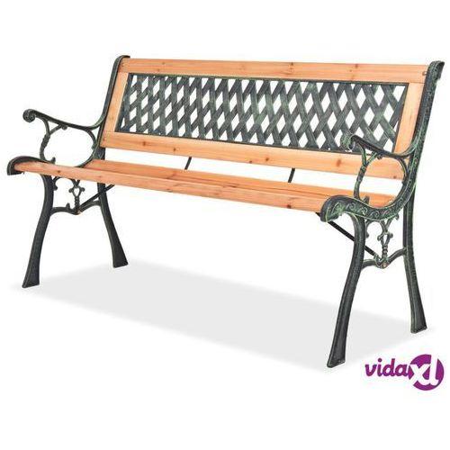ławka ogrodowa, 122 cm, drewniana marki Vidaxl
