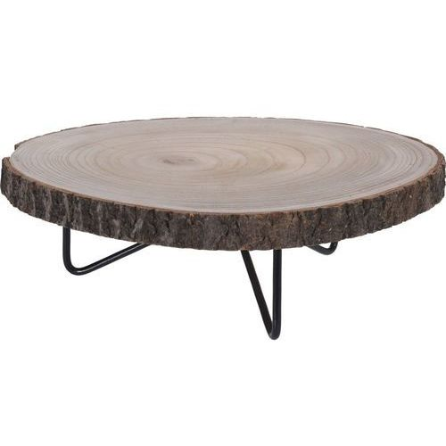 Niski stolik okazjonalny, stolik nocny - naturalny pień drzewa, Ø 40 cm