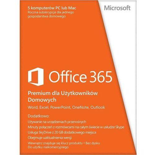 Microsoft Office 365 Home Premium, PL wersja 32 i 64 bit z kategorii Programy biurowe i narzędziowe