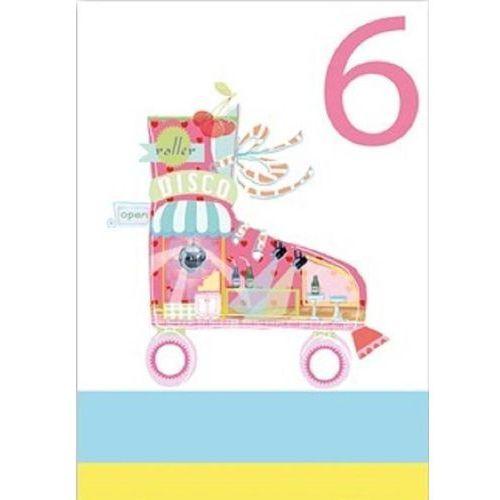 Karnet b6 brokat z kopertą urodziny 6 dziewczynka marki Museums & galleries