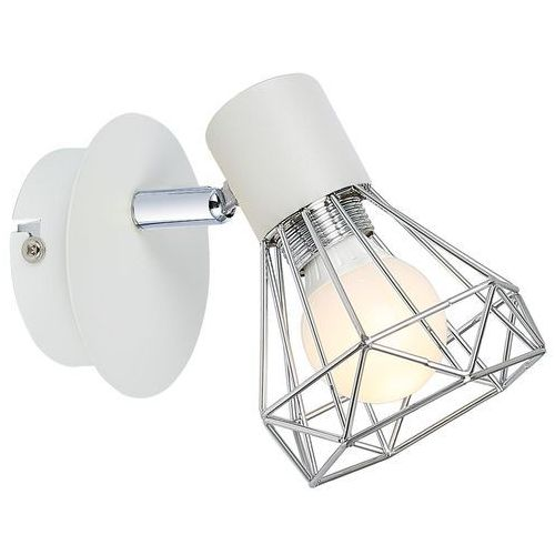 Candellux verve 91-61331 kinkiet lampa ścienna 1x40w e14 biały / chrom (5906714861331)