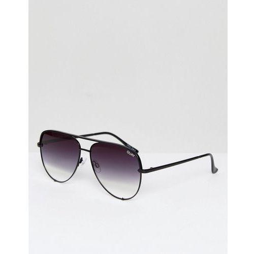 Quay australia x desi high key sunglasses in black fade - black