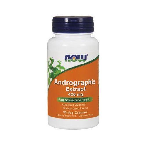 Now Foods Andrographis extract 400mg 90 kaps. (lek pozostałe leki chorób dróg oddechowych)