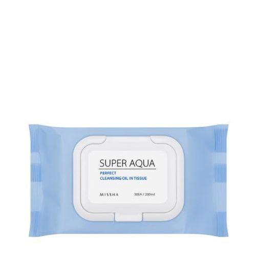 MISSHA Delikatne chusteczki do demakijażu, Super Aqua Perfect Cleansing Oil In Tissue