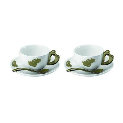 Guzzini - Love - kpl. 2 filiżanek do cappuccino, piaskowy - brązowy, 1144.00.39