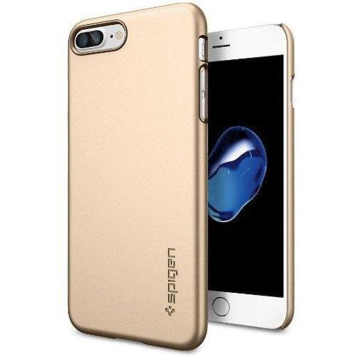 Zestaw | Spigen SGP Thin Fit Champagne Gold | Obudowa + Szkło ochronne Perfect Glass dla modelu Apple iPhone 7 Plus
