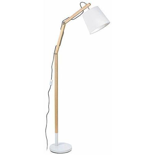 Rabalux Stojąca lampa podłogowa thomas 4192 skandynawska oprawa regulowana abażurowa drewno buk biała