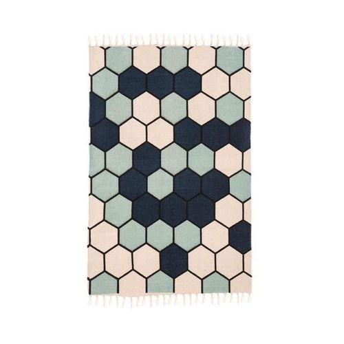 Inspire Dywan bawełniany delia niebieski 60 x 90 cm