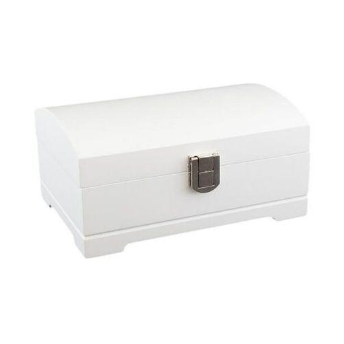 Artpol Biała szkatułka drewniana pudełeczko na biżuterie