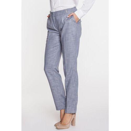 Szare spodnie z kantem - Potis & Verso, kolor szary