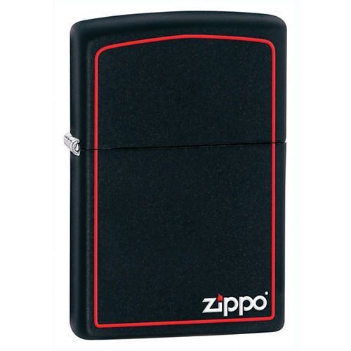Zapalniczka ZIPPO Black Matte w/Zippo & Border