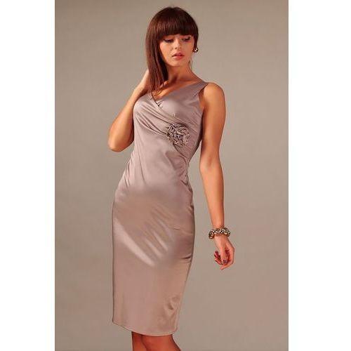 Sukienka Afrodyta Cappucino, kolor brązowy