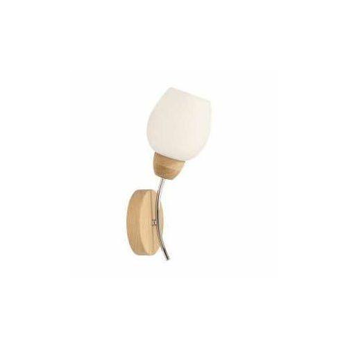 Spot light parma wood 8320174 kinkiet lampa ścienna 1x60w e27 drewno/biały (5903148439648)