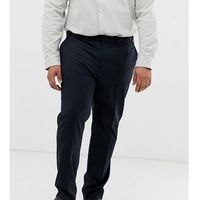 big & tall slim smart trousers in navy - navy marki Burton menswear