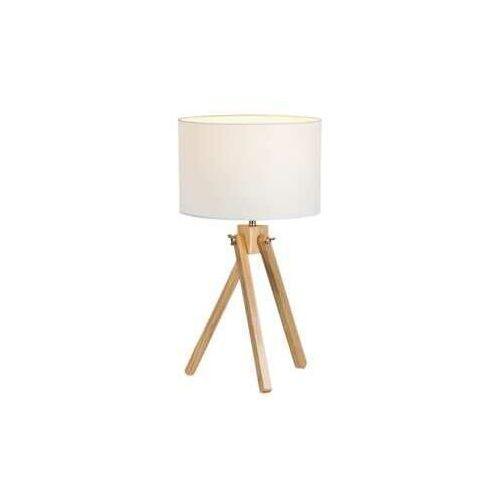 Lampa lampka stołowa Rabalux Soren 1x40W E14 biały/buk4190, 4190