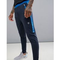 Jack & Jones Core Performance Track Bottoms With Side Tape - Navy, w 2 rozmiarach