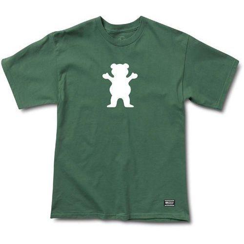 Koszulka - og bear basic tee forest green -white (fgrn) rozmiar: m marki Grizzly