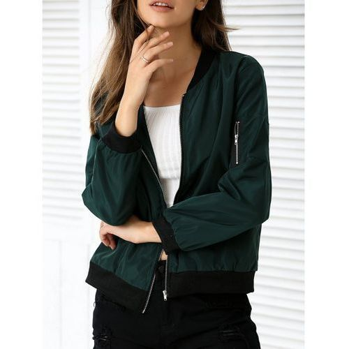 Rosewholesale Zipper design pocket bomber jacket