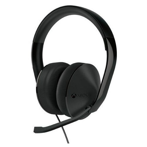 Zestaw słuchawkowy stereo z mikrofonem do xbox one (czarny) marki Microsoft
