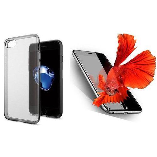 Sgp - spigen / perfect glass Zestaw   spigen sgp liquid crystal space crystal   obudowa + szkło ochronne perfect glass dla modelu apple iphone 7