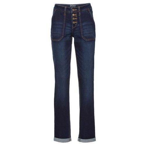 Dżinsy ze stretchem Boyfriend bonprix ciemnoniebieski, jeans