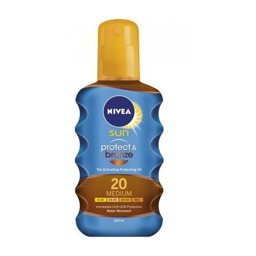 Nivea sun protect & bronze oil spray spf20 200ml w opalanie (4005900118165)