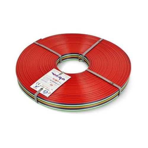 Przewód wstążkowy tlwy - 12x0,75mm²/awg 18 - wielokolorowy - 25m marki Vega tronik