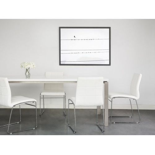 Beliani Zestaw do jadalni 2 krzesła białe kiron